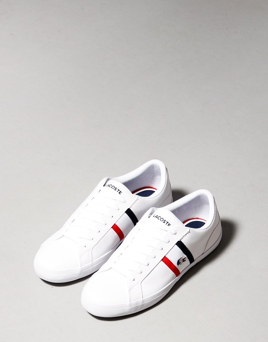 Lacoste Lerond Tricolore Trainers White / Navy / Red