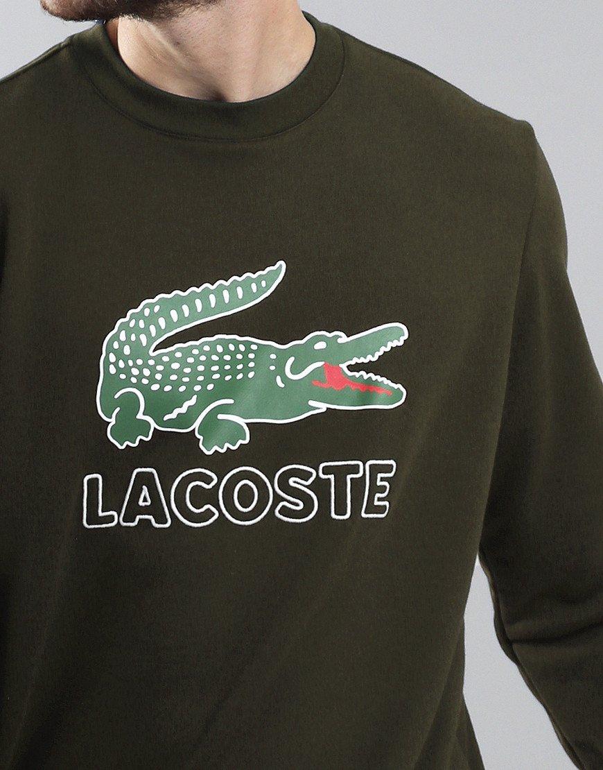 Lacoste Logo Crew Sweat Baobab