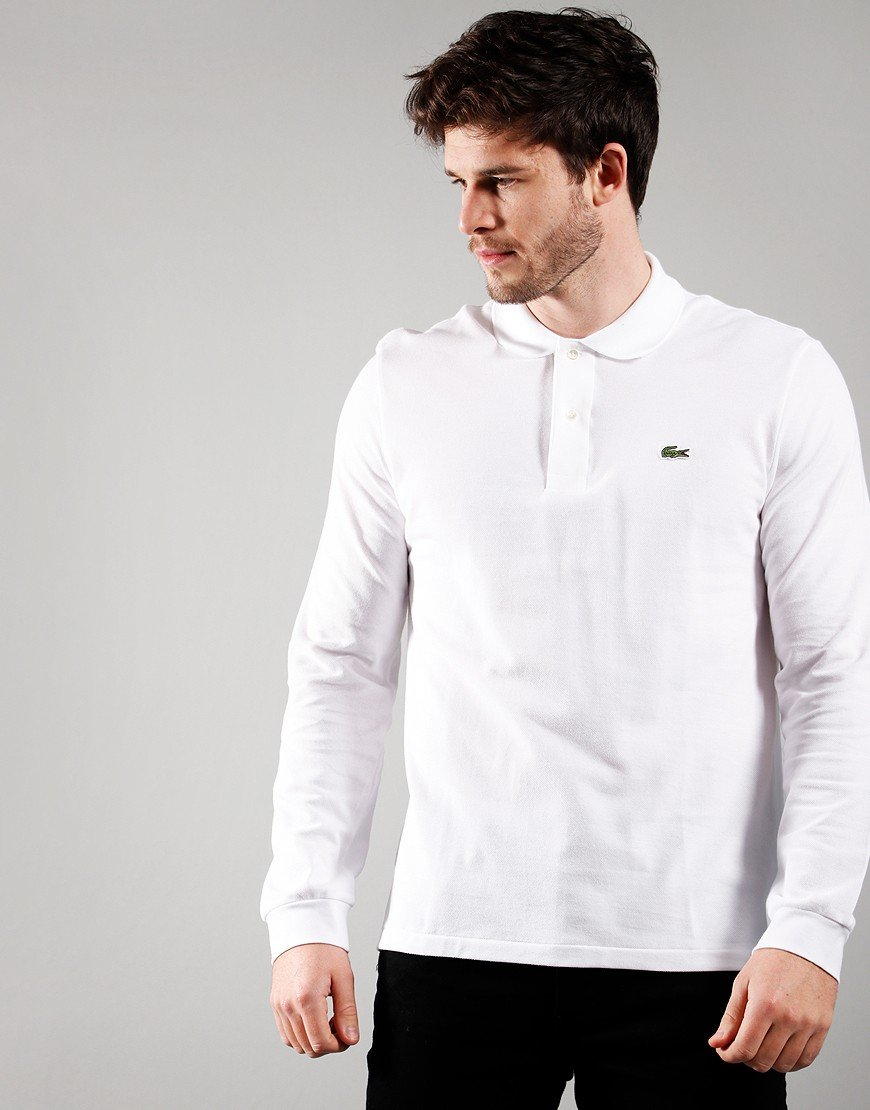 Lacoste Long Sleeve Best Polo Shirt White