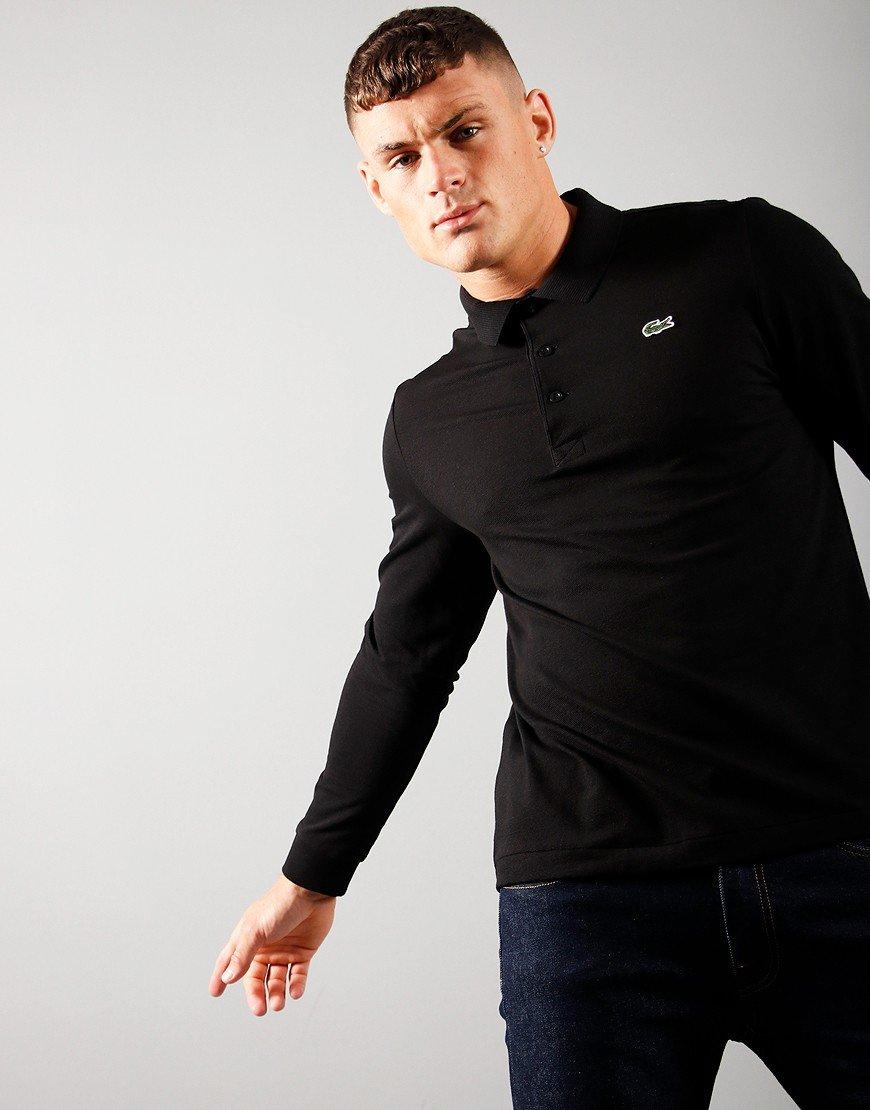 Lacoste Long Sleeve Polo Shirt Black