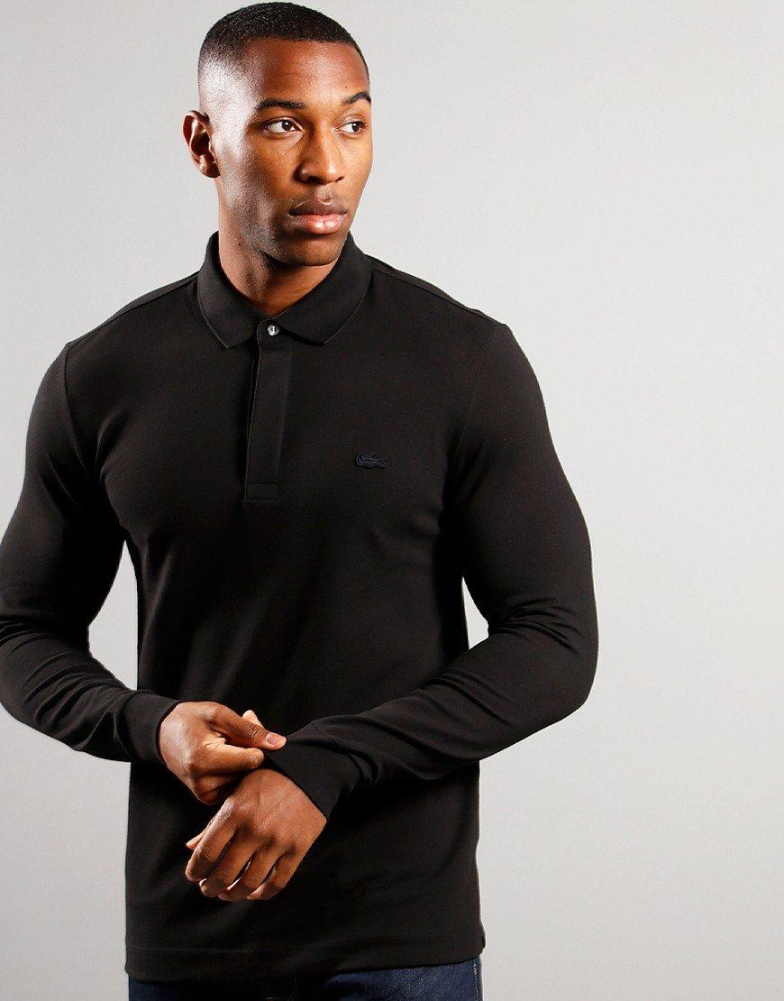Lacoste Long Sleeve Paris Polo Shirt Black