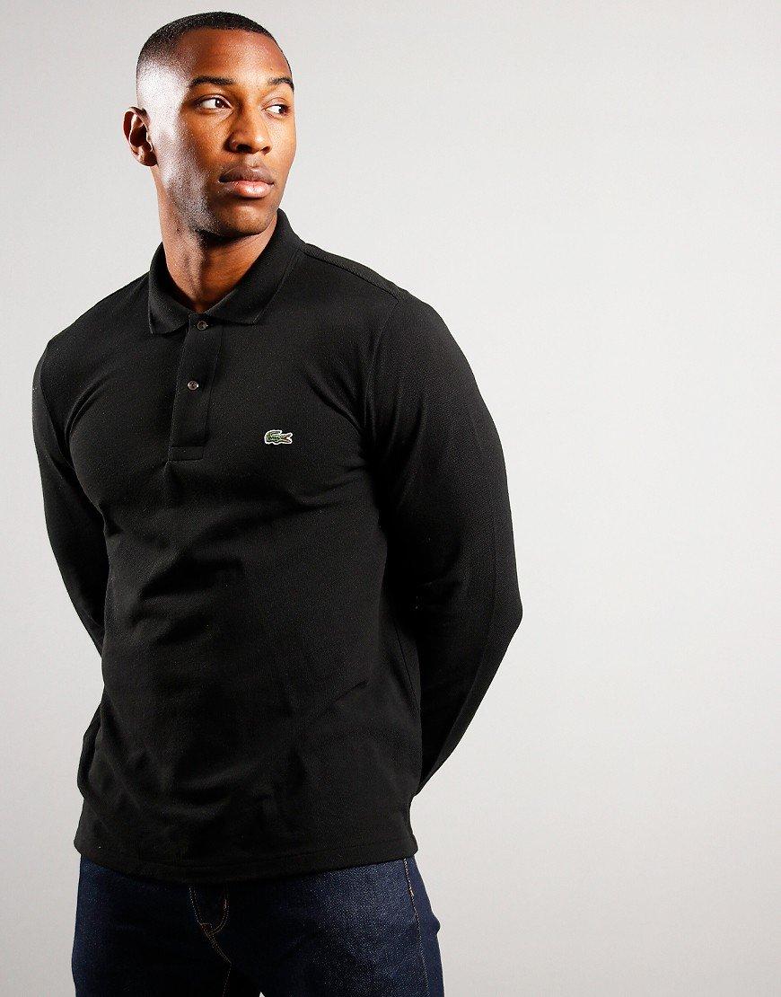 Lacoste Long Sleeve L1212 Polo Shirt Black
