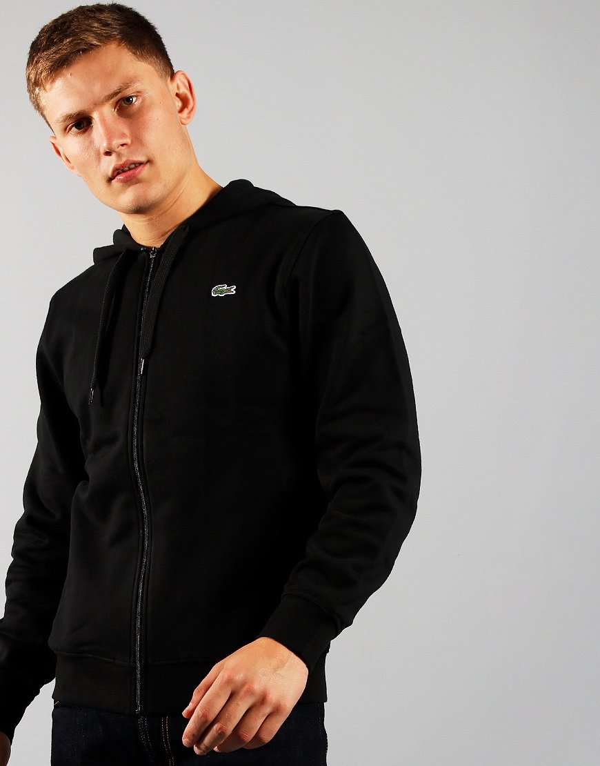 Lacoste Light Weight Zip Hoodie Black