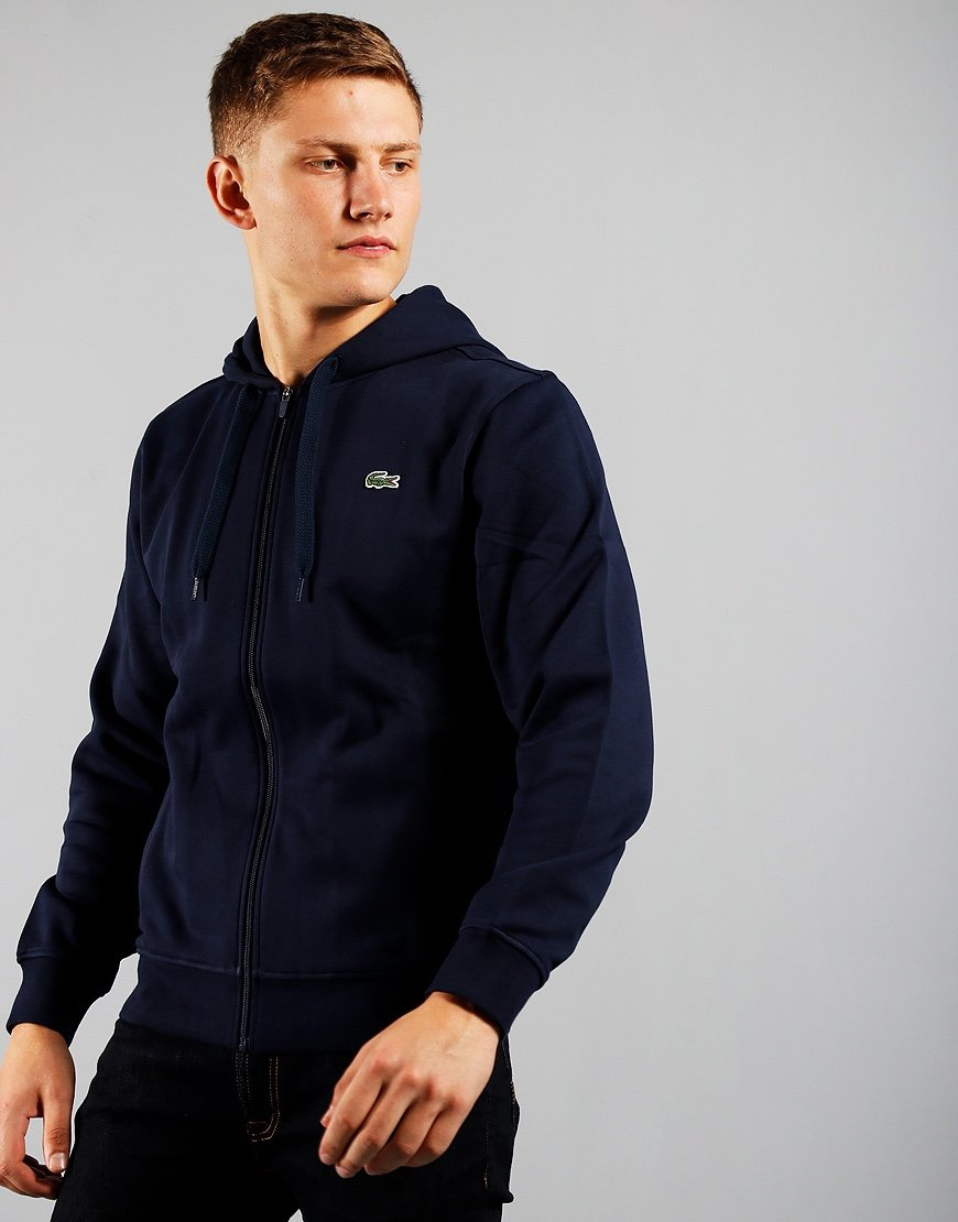 Lacoste SPORT Light Weight Zip Hoodie Navy