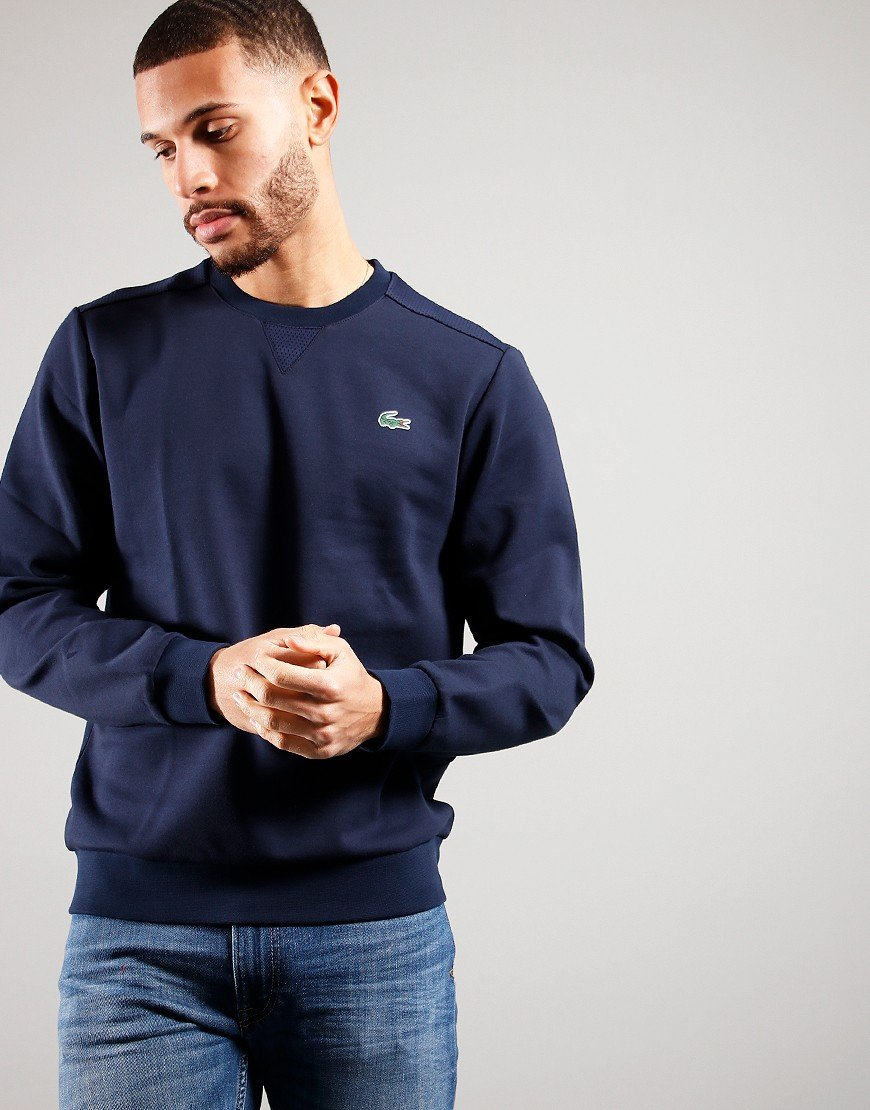 Lacoste Mesh Panels Sweat Navy