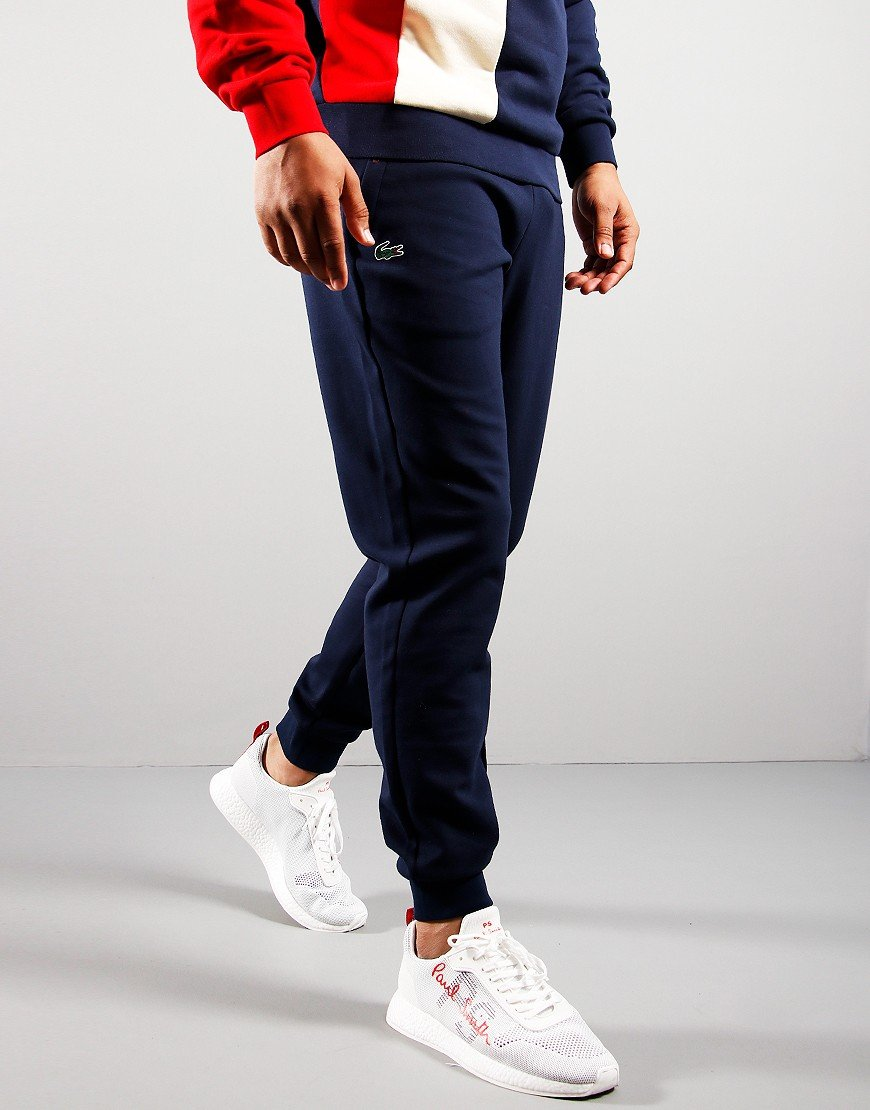 Lacoste Mesh Panel Track Pants Navy