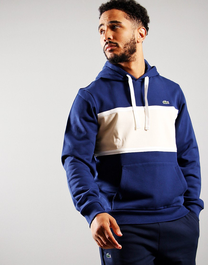 Lacoste Piqué Panel Bimaterial Hooded Sweatshirt