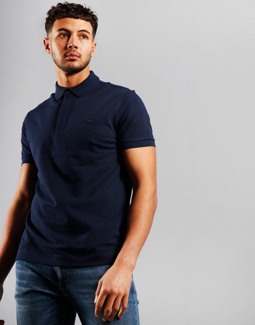 Lacoste Paris Polo Shirt Navy Blue