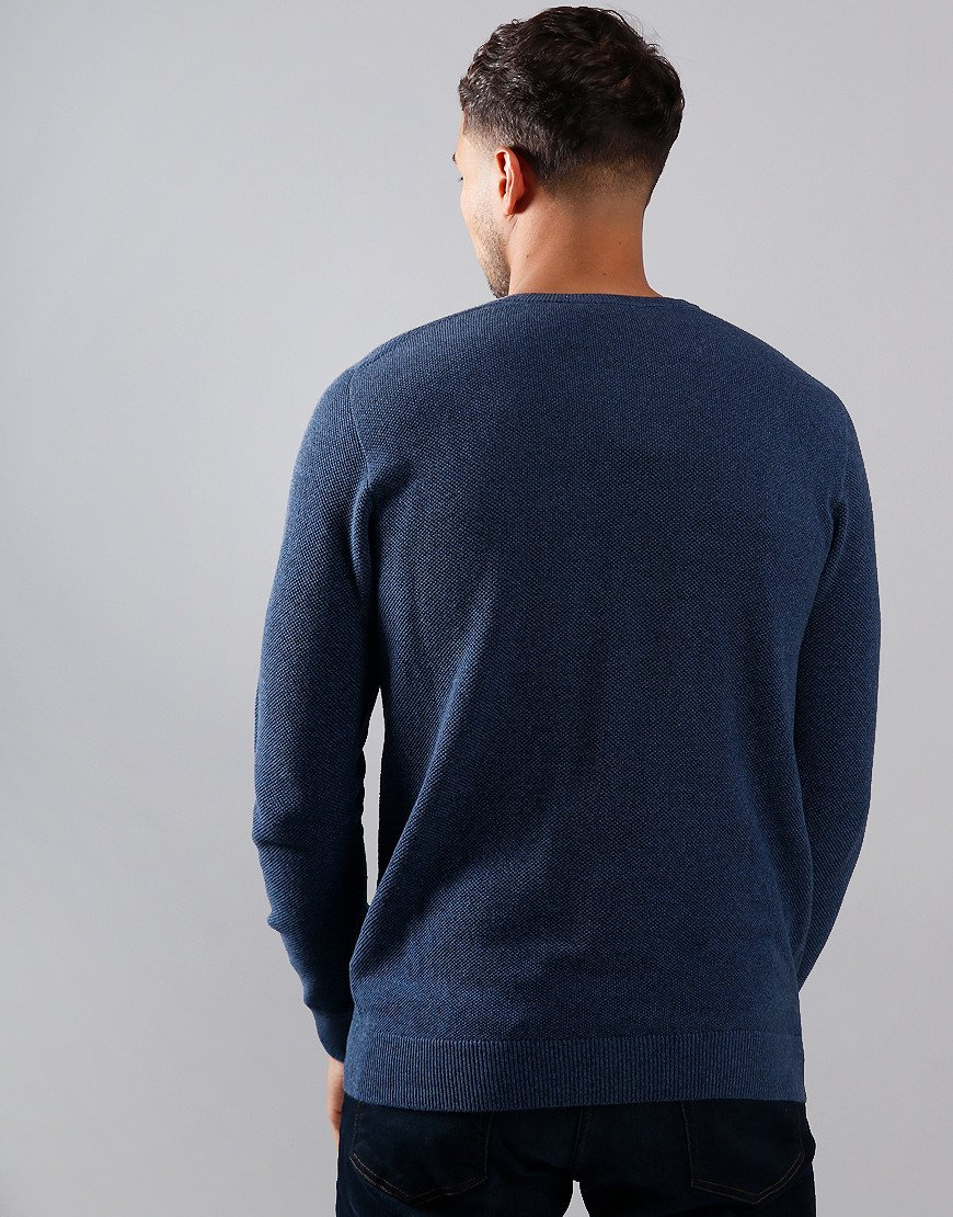 Lacoste Piqué Crew Neck Knit Dark Indigo Blue