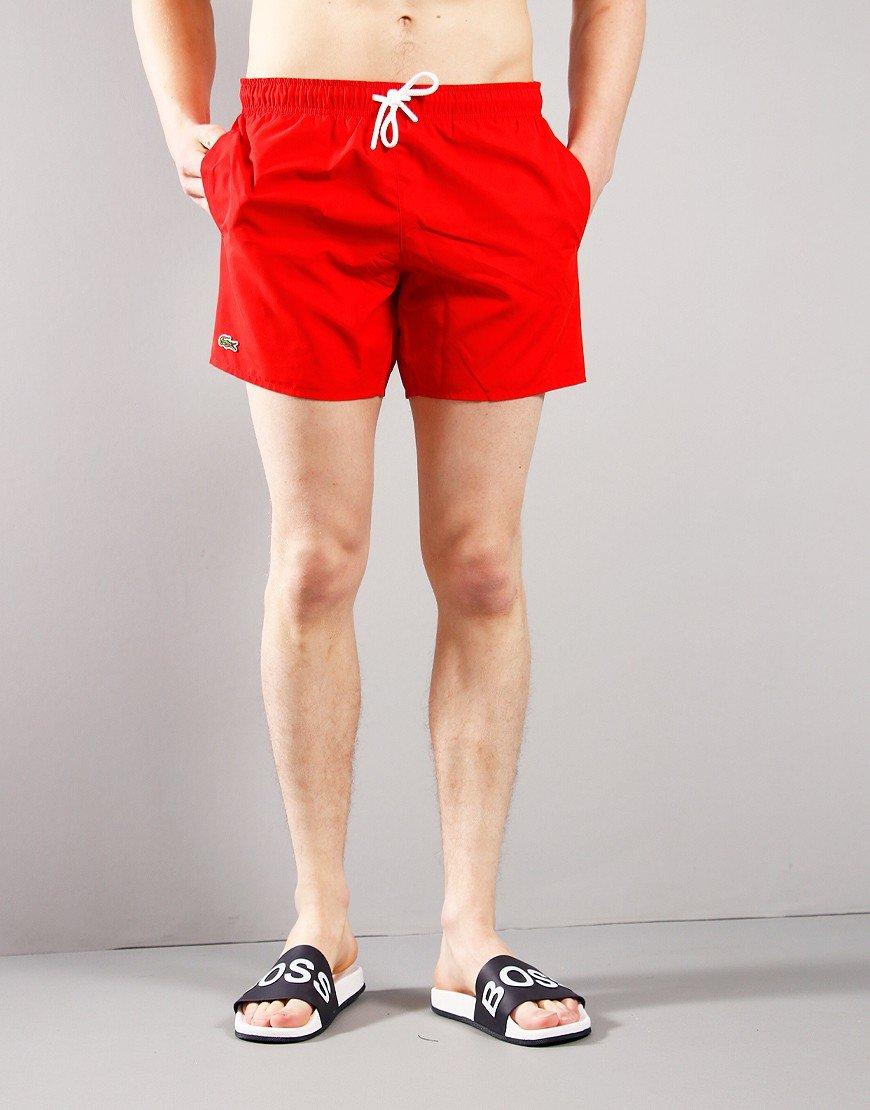 Lacoste Plain Swim Shorts Red