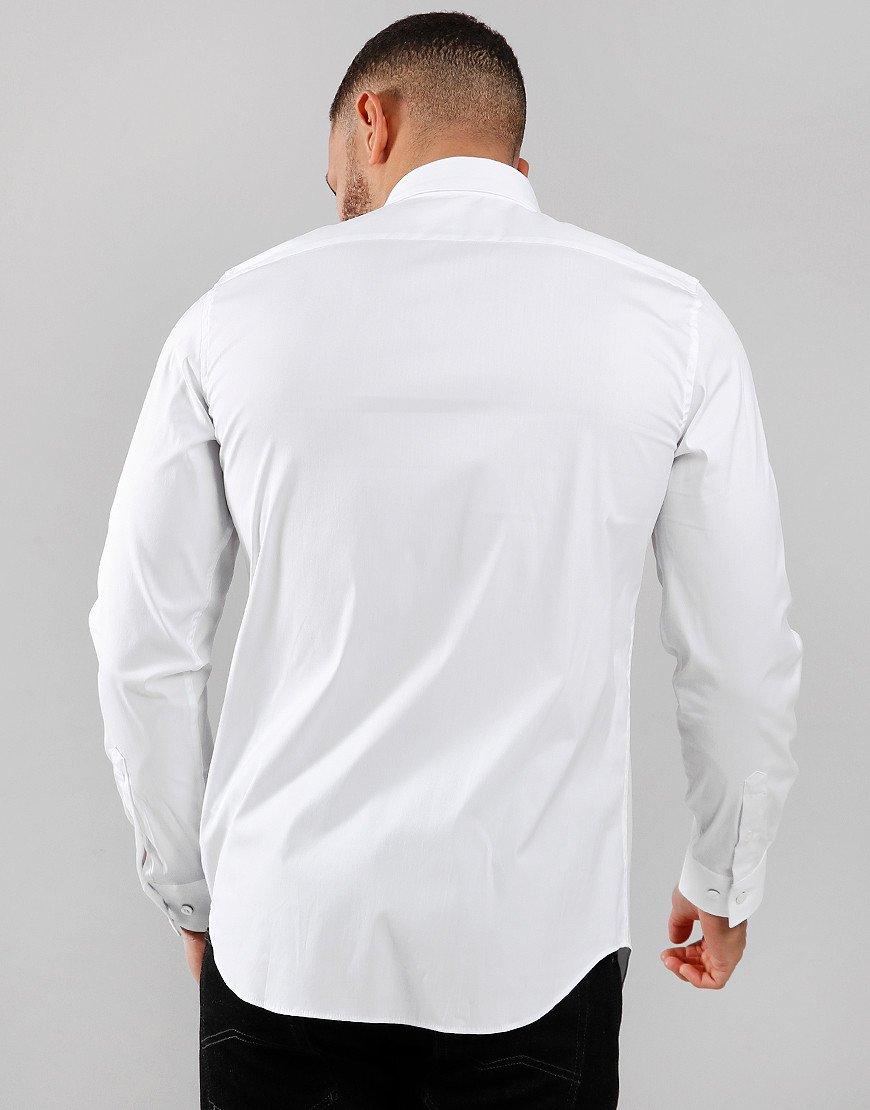 Lacoste Poplin Long Sleeve Shirt White
