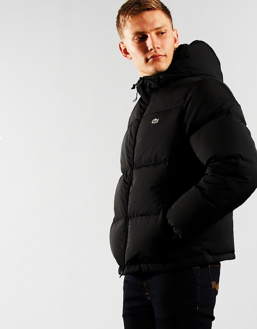 Lacoste Short Lightweight Puffer Jacket Black