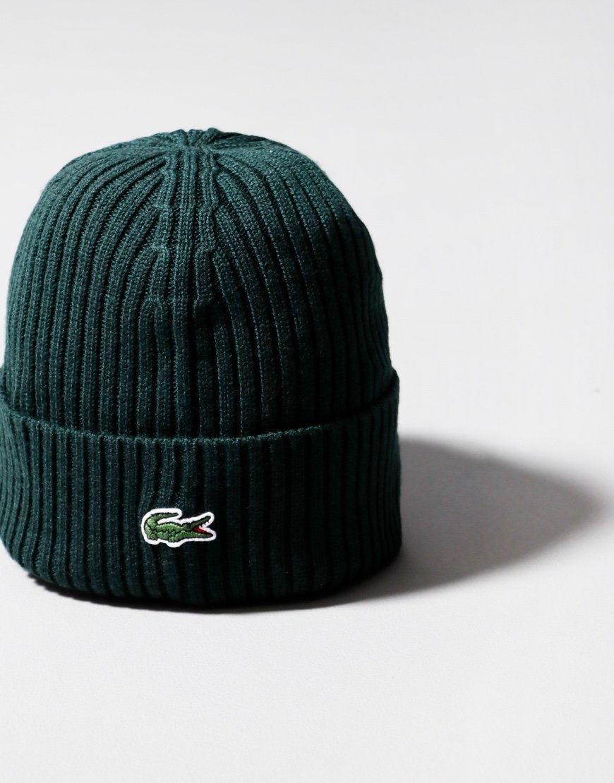Lacoste Ribbed Beanie Sinople