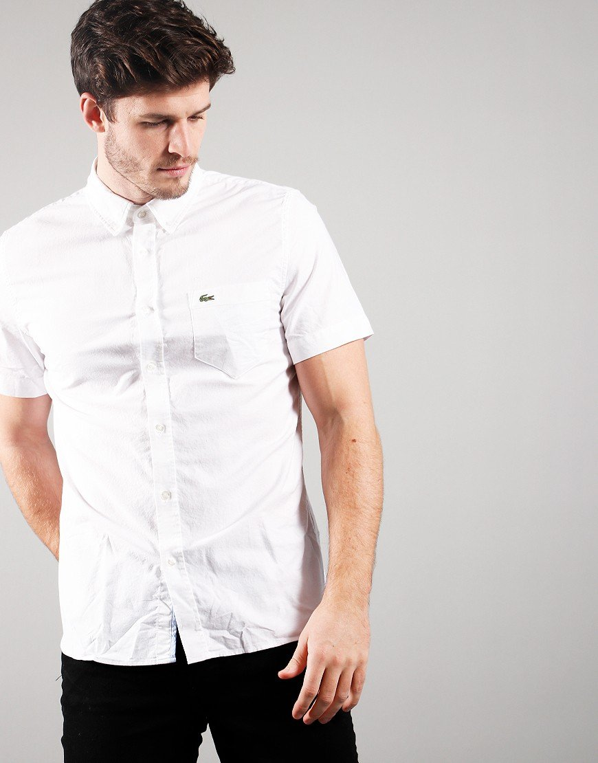 Lacoste Short Sleeve Woven Shirt White