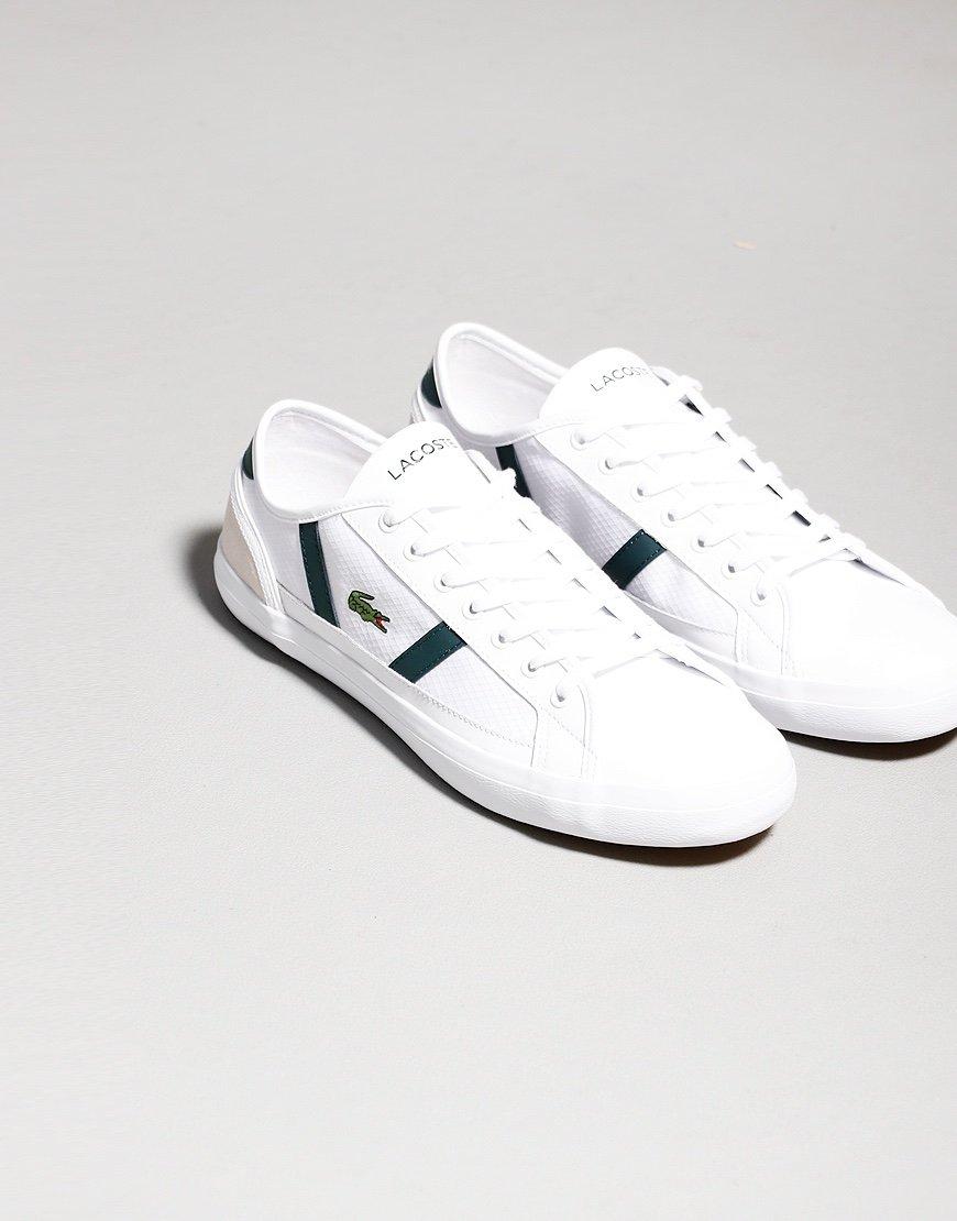 Lacoste Sideline Trainers White / Dark Green