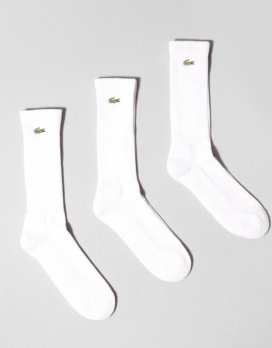 Lacoste 3 Pack Socks Socks White