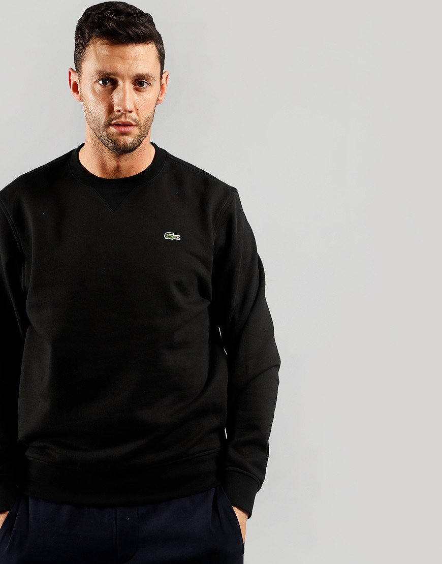 Lacoste Crew Fleece Sweat Black