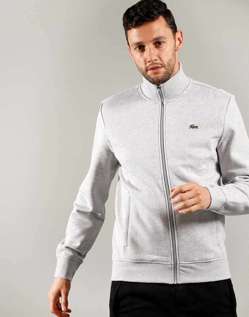 Lacoste SPORT Fleece Zip Sweat Silver Chine
