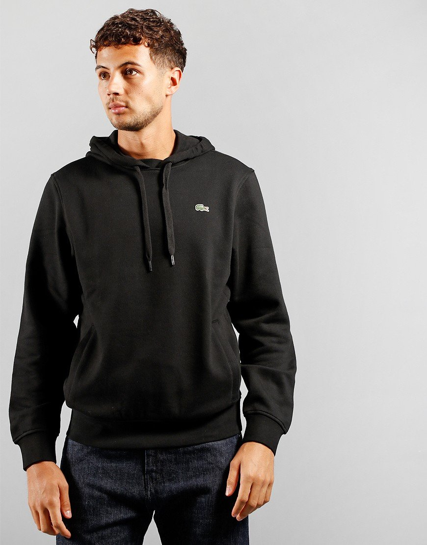 Lacoste SPORT Hooded Fleece Black