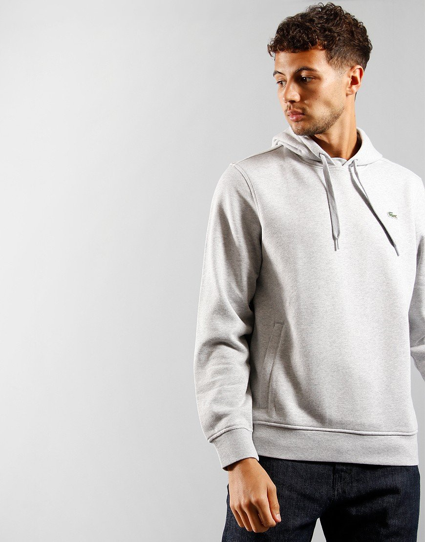 Lacoste SPORT Hooded Fleece Silver Chine