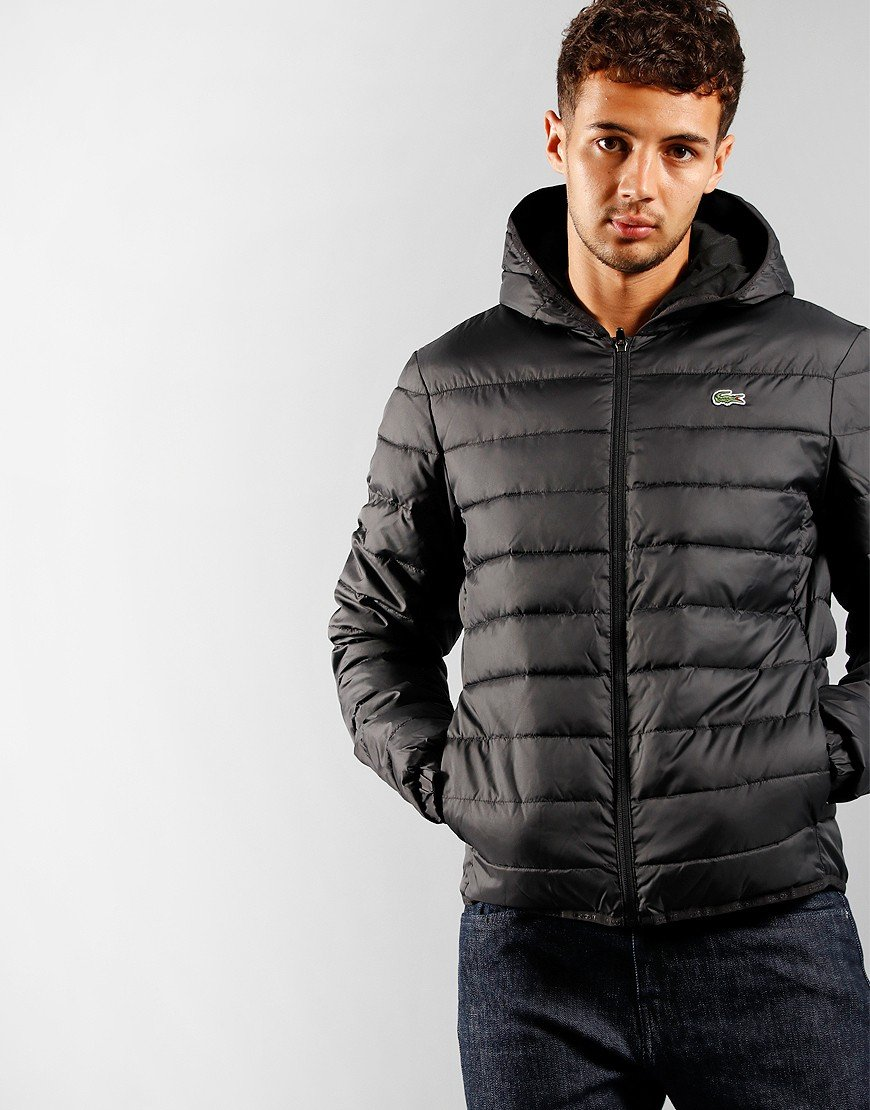 Lacoste Sport Quilted Jacket Black