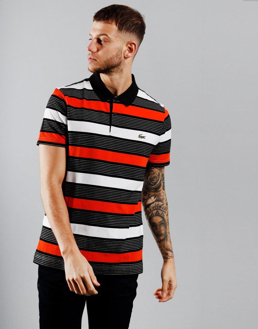 Lacoste Tri Colour Polo Shirt Black