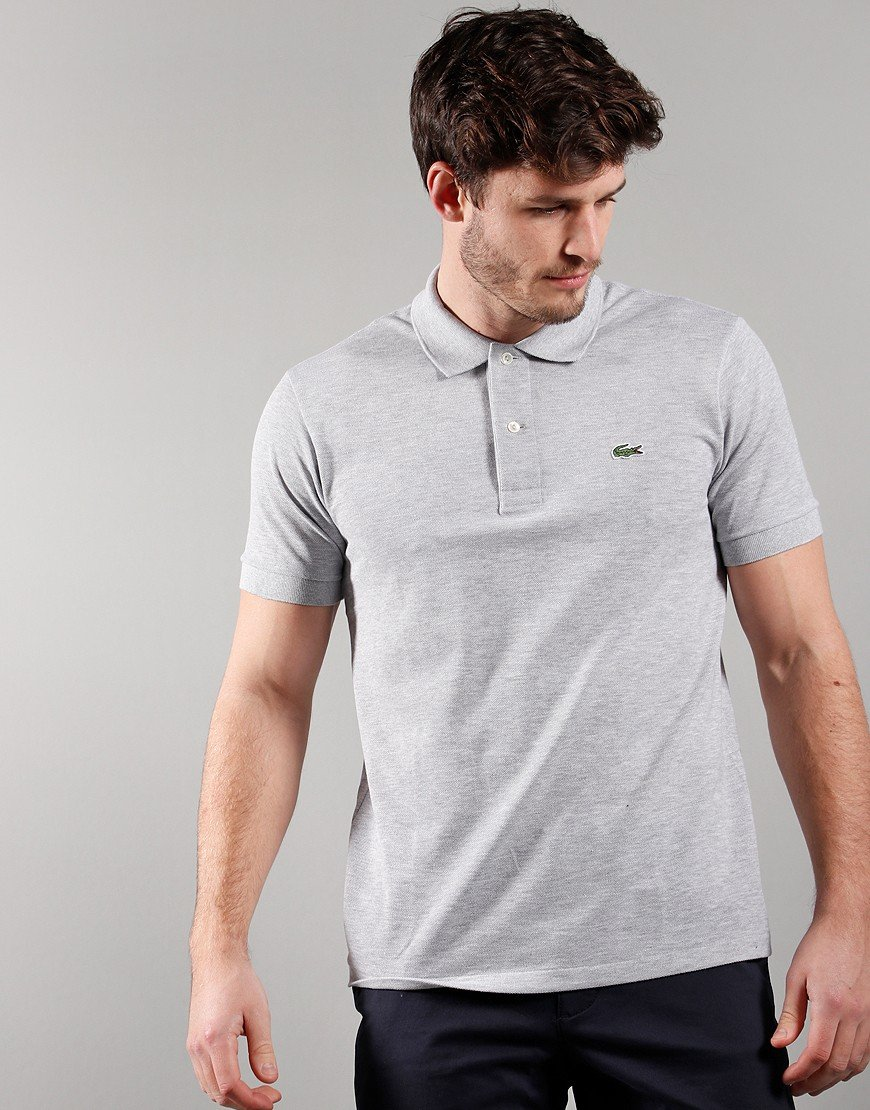 Lacoste Best Polo Shirt Silver Chine