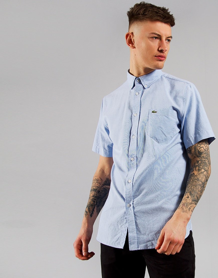 Lacoste Woven Shirt  Hemisphere Blue