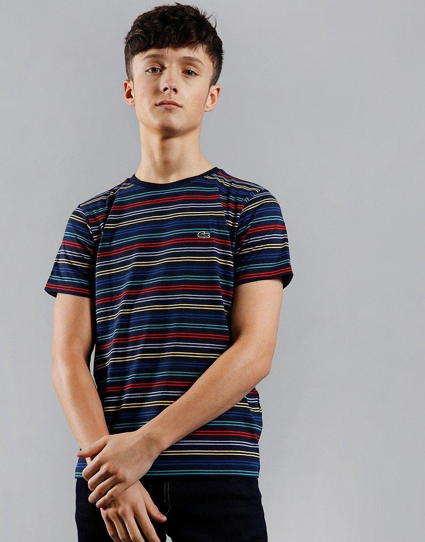 Lacoste Stripe T-Shirt Navy/Multi