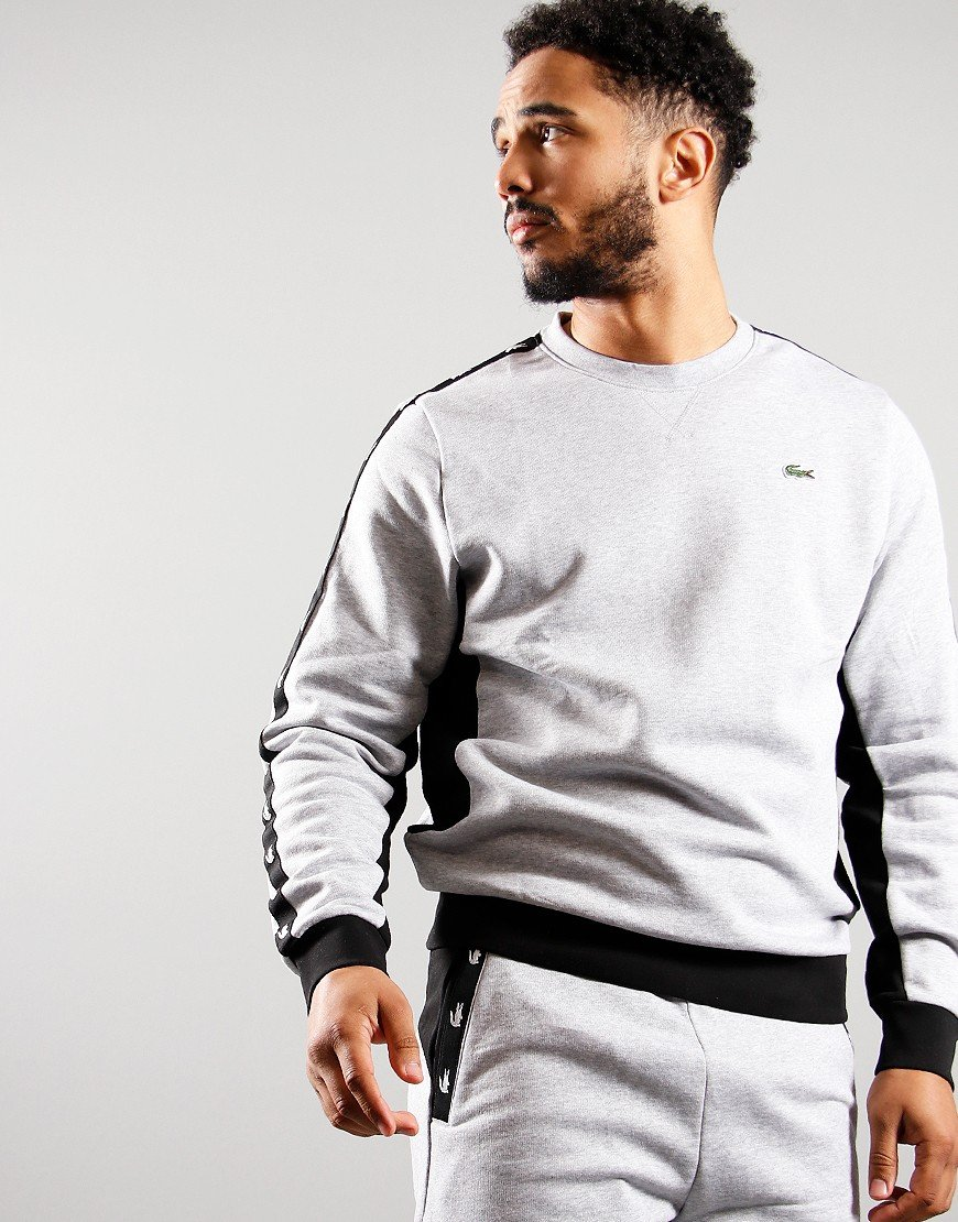 Lacoste Tape Crew Sweat Sweat Silver