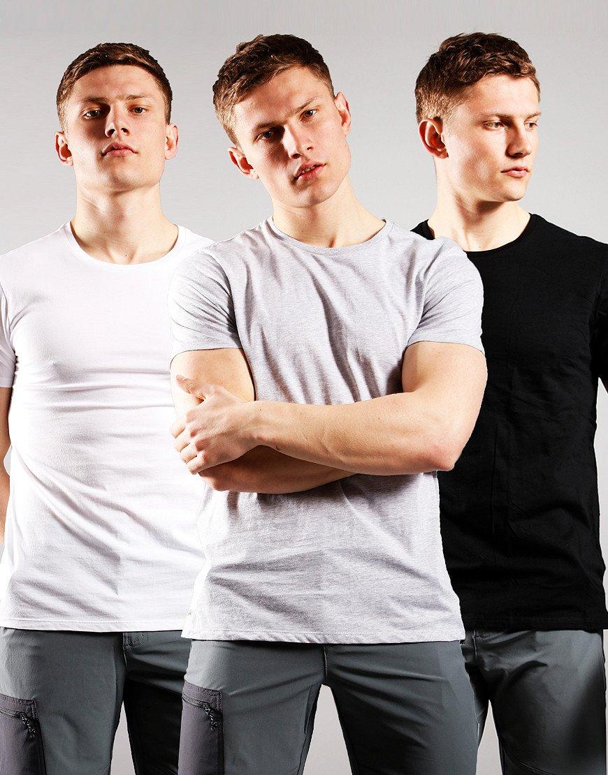 Lacoste 3 Pack Underwear T-Shirt White/Silver/Black
