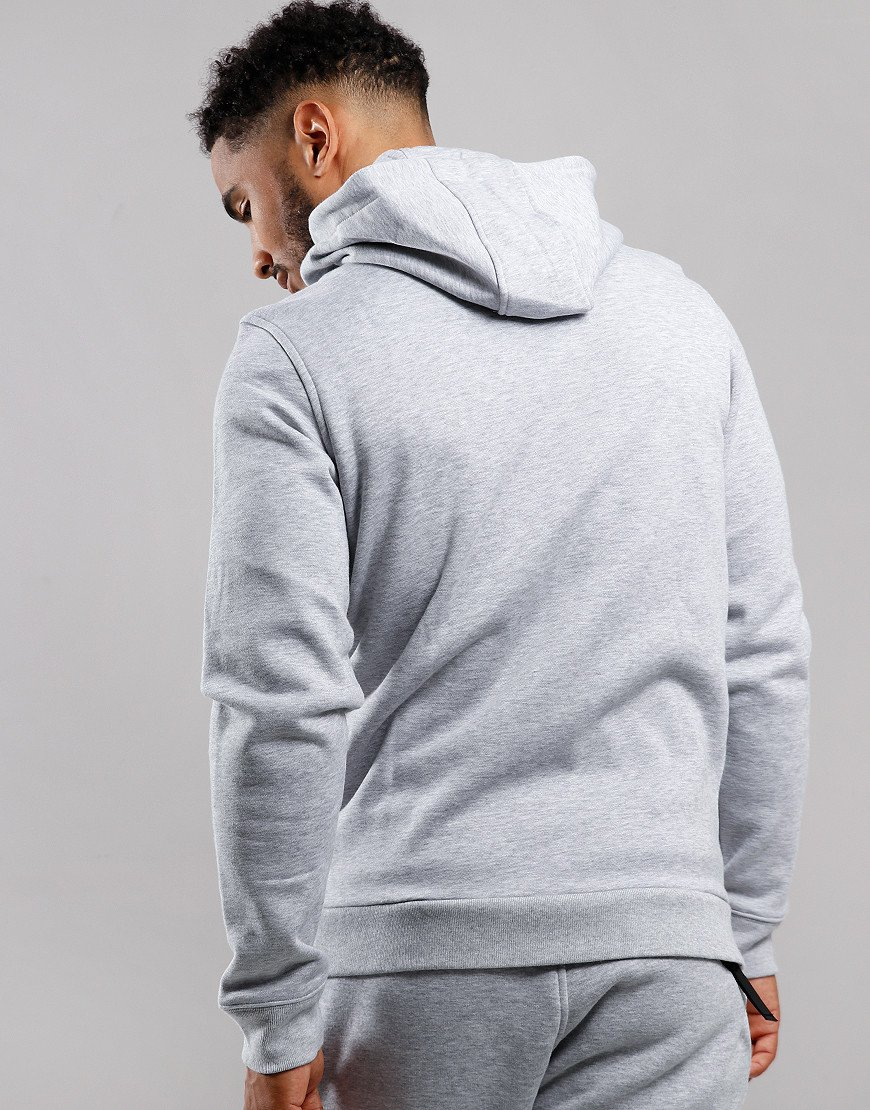 Lacoste Full Zip Hooded Sweat Silver Chine