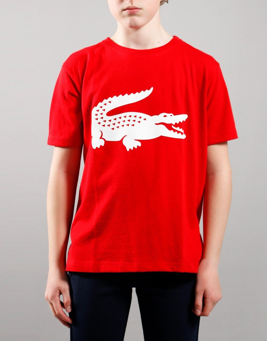 Lacoste Kids Croc T-Shirt Red/White