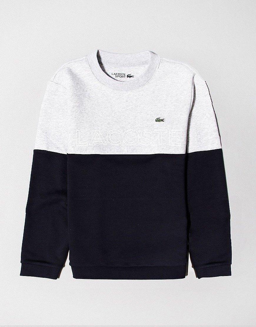 Lacoste Kids Colour Block Fleece Silver Chine/Abysm
