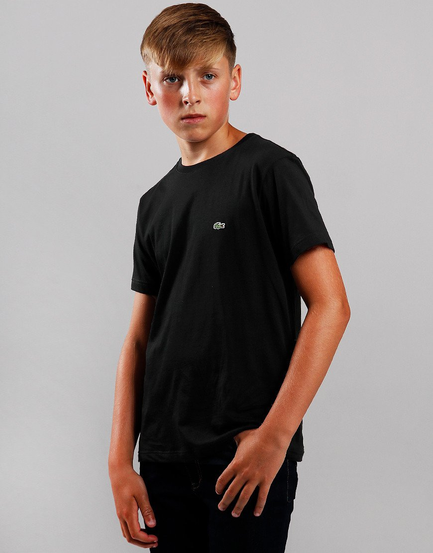 Lacoste Kids Crew Neck T-Shirt Black