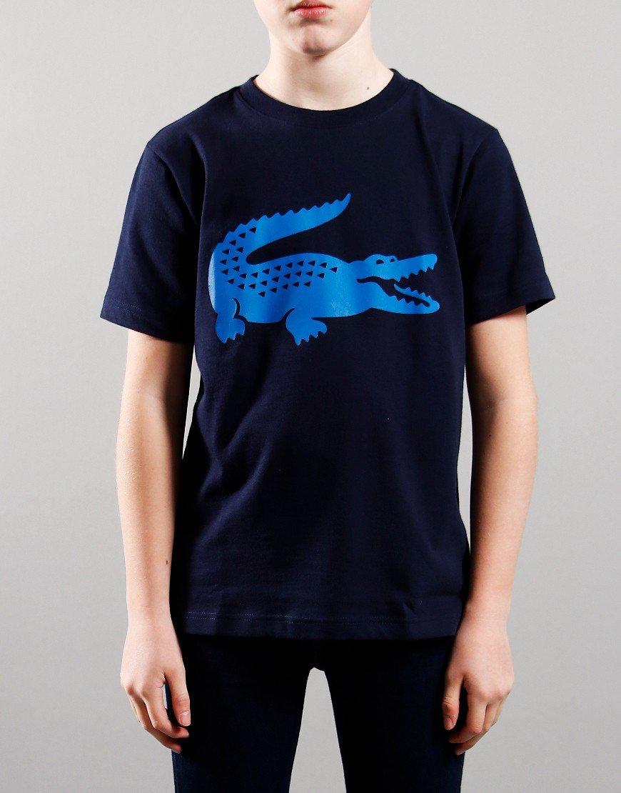Lacoste Kids Croc T-Shirt Navy/Ultramarine