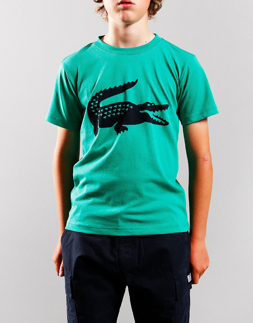 Lacoste Kids Croc T-Shirt Palm Green/Navy