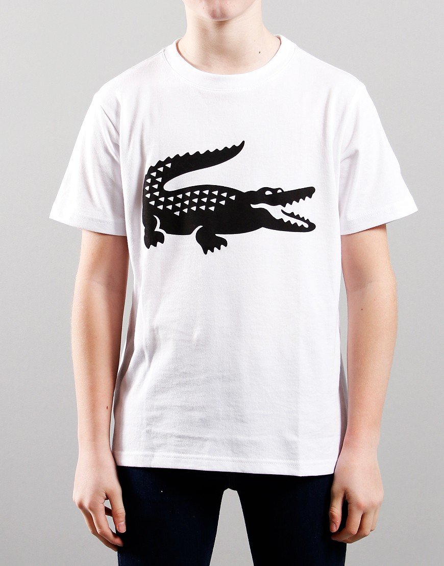 Lacoste Kids Croc T-shirt White