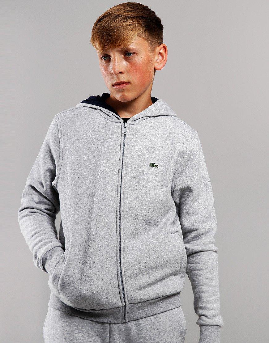 Lacoste Kids Hoodie Silver/Navy