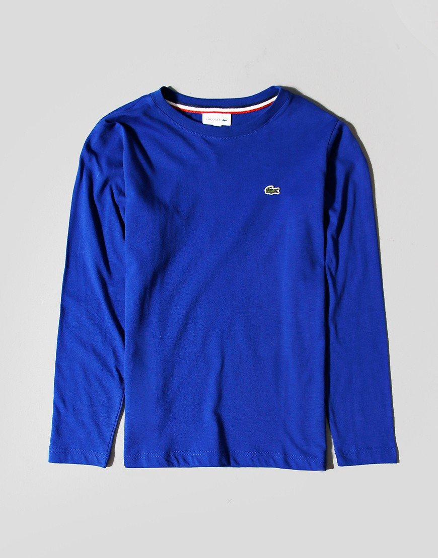 Lacoste Kids Long Sleeve Plain T-Shirt Cosmic