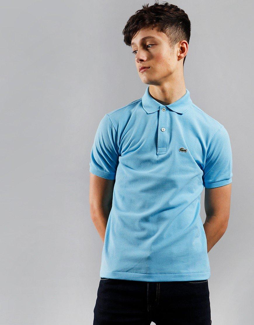 Lacoste Kids Plain Polo Shirt Barbeau Blue