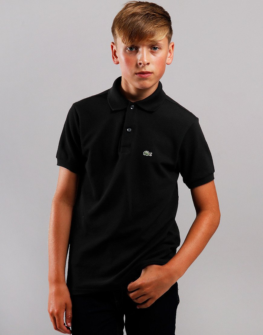 Lacoste Kids Plain Polo Shirt Black