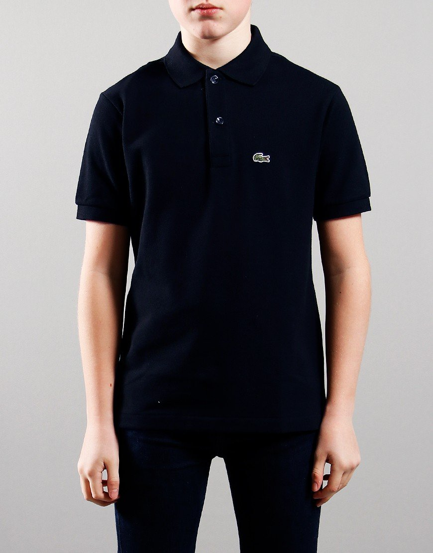 Lacoste Kids Plain Polo Shirt Navy