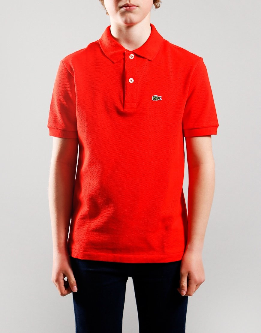 Lacoste Kids Plain Polo Shirt Redcurrant Bush