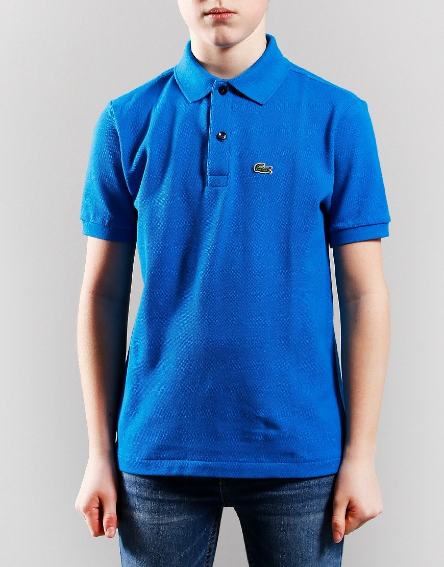Lacoste Kids Plain Polo Shirt Ultramarine