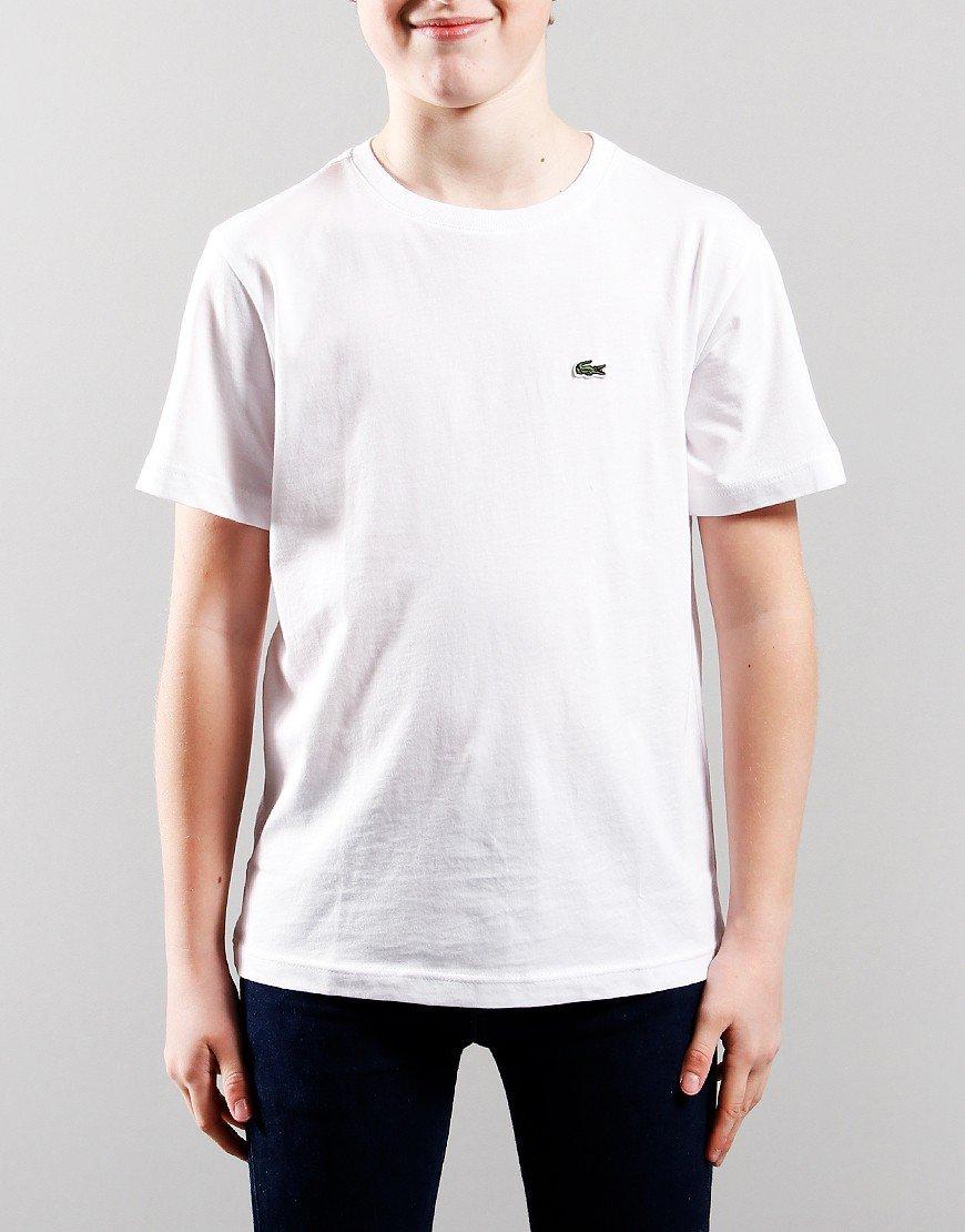 Lacoste Kids Crew Neck T-Shirt White