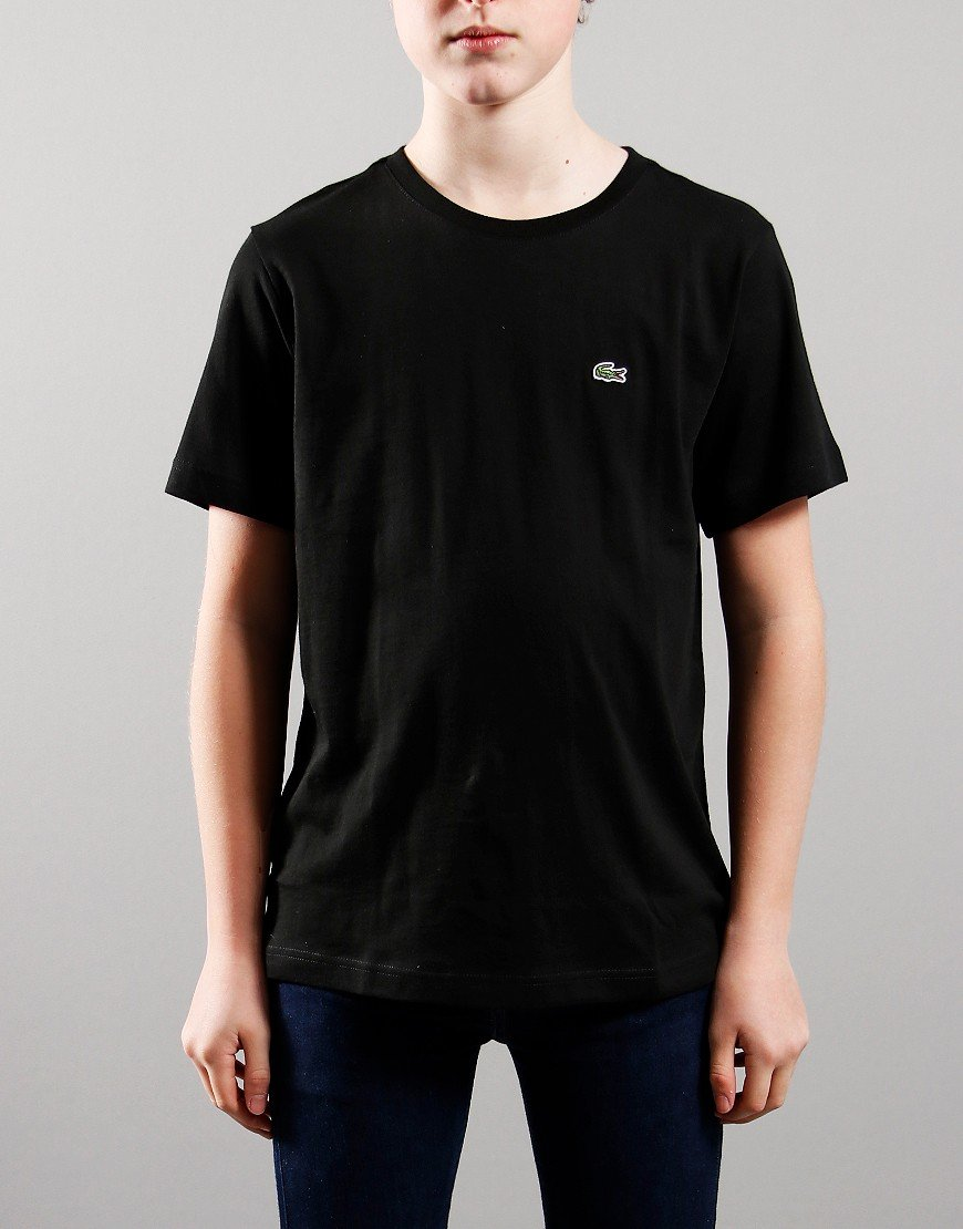 Lacoste Kids Crew Neck T-Shirt Black