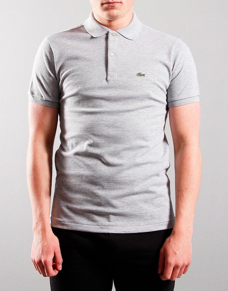 Lacoste Kids Plain Polo Shirt Silver Chine