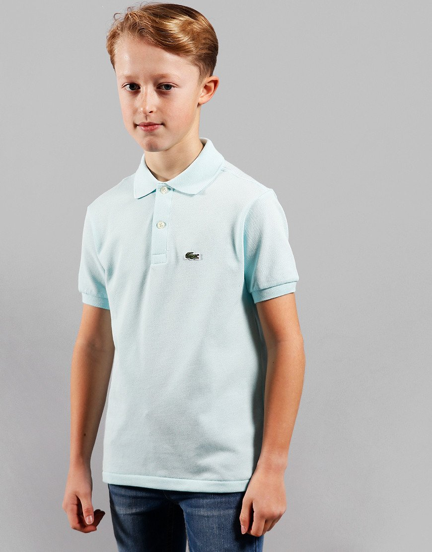 Lacoste Kids Plain Polo Shirt Aquarium