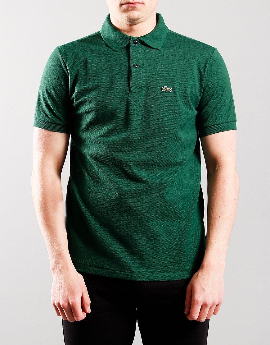 Lacoste Kids Plain Polo Shirt Green